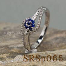 แหวนไพลิน แหวนดอกไม้ แหวนเงินแท้