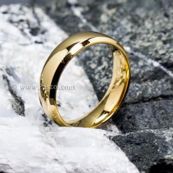 แหวนทองชุบ แหวนเกลี้ยง บ่าแหวนตะไบเฉียง #5