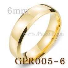 แหวนทองชุบ แหวนเกลี้ยง บ่าแหวนตะไบเฉียง หน้ากว้าง6มิล แหวนสแตนเลส