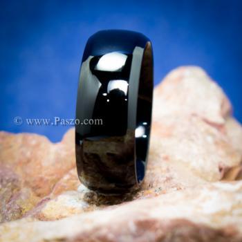 แหวนเกลี้ยง รมดำ หน้ากว้าง8มิล #2
