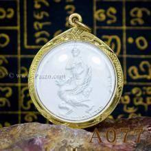 เหรียญเทวดาราหู เหรียญพระราหูทรงครุฑ จี้ทองไมครอน ชุบเงิน