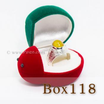 กล่องใส่แหวน รูปเต่าทอง กล่องกำมะหยี่ #3