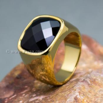 แหวนนิล แหวนผู้ชาย แหวนทองชุบ #2