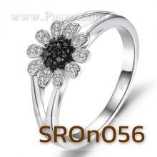 แหวนดอกเดซี่ แหวนดอกไม้ แหวนนิล ล้อมเพชร แหวนเงินแท้