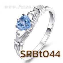 แหวนพลอยอะความารีน แหวนรูปหัวใจ แหวนแห่งรัก แหวนเงินแท้