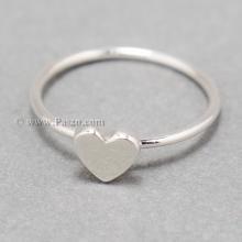 แหวนเงิน หัวใจ แหวนรูปหัวใจ แหวนอักษร แหวนเงินแท้