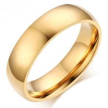 แหวนทอง แหวนเกลี้ยง แหวนหน้าโค้ง กว้าง6มิล แหวนสแตนเลส แหวนทองชุบ