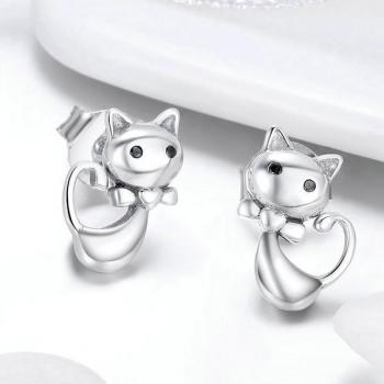ต่างหูเงิน ต่างหูแมว ต่างหูแฟชั่น #2