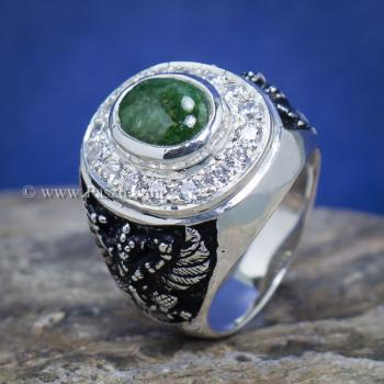 แหวนหยก แหวนพญาครุฑ แหวนผู้ชายเงินแท้ #8