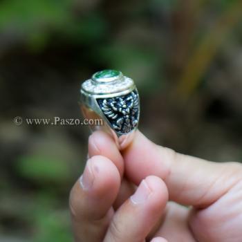 แหวนหยก แหวนพญาครุฑ แหวนผู้ชายเงินแท้ #9