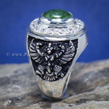 แหวนหยก แหวนพญาครุฑ แหวนผู้ชายเงินแท้ #7