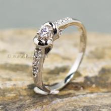 แหวนเพชร แหวนผู้หญิง แหวนเงินแท้