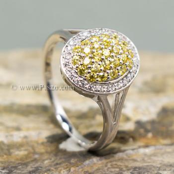 แหวนล้อมเพชร แหวนบุษราคัม ล้อมเพชร #4