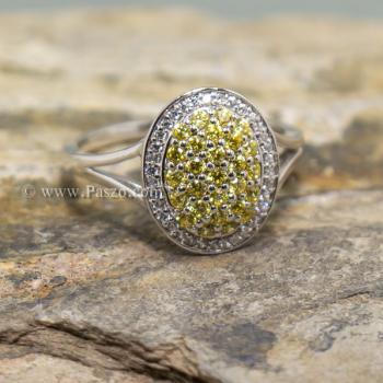 แหวนล้อมเพชร แหวนบุษราคัม ล้อมเพชร #3