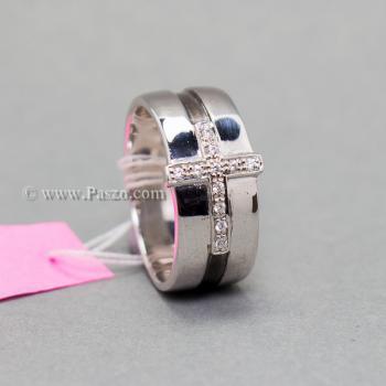 แหวนเพชร แหวนไม้กางเขน แหวนเงินแท้ #4