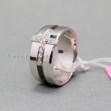 แหวนเพชร แหวนไม้กางเขน แหวนเงินแท้ ฝังเพชร
