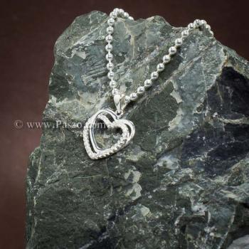 จี้รูปหัวใจ จี้เพชร จี้เงินแท้ #3