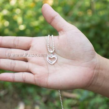 จี้รูปหัวใจ จี้เพชร จี้เงินแท้ #2