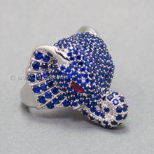 แหวนช้าง แหวนพลอยไพลิน พลอยสีน้ำเงิน แหวนเงินแท้