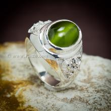 แหวนพลอยไพฑูรย์ แหวนเงินผู้ชาย แหวนพญาครุฑ แหวนผู้ชายปิดท้องวงตัน พลอยตาแมว