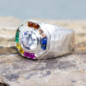 แหวนนพเก้า แหวนผู้ชาย แหวนแปดเหลี่ยม #3