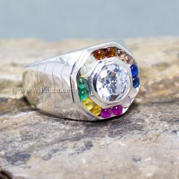 แหวนนพเก้า แหวนผู้ชาย แหวนแปดเหลี่ยม #4