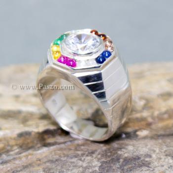 แหวนนพเก้า แหวนผู้ชาย แหวนแปดเหลี่ยม #2