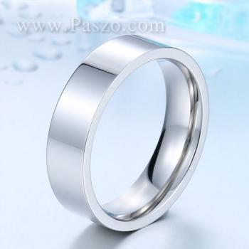 แหวนเกลี้ยง แหวนหน้าเรียบ หน้ากว้าง6มิล #2