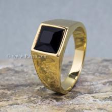 แหวนทองชุบ พลอยนิล แหวนผู้ชาย