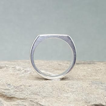 แหวนเงิน แหวนหน้าปาด แหวนสลักชื่อ #4