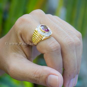 แหวนโรเล็กซ์ แหวนพลอยผู้ชาย แหวนทับทิม #2