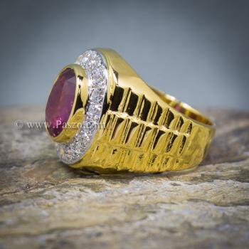 แหวนโรเล็กซ์ แหวนพลอยผู้ชาย แหวนทับทิม #6