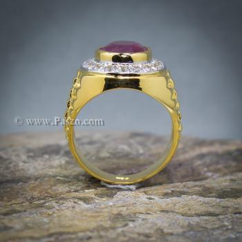 แหวนโรเล็กซ์ แหวนพลอยผู้ชาย แหวนทับทิม #8