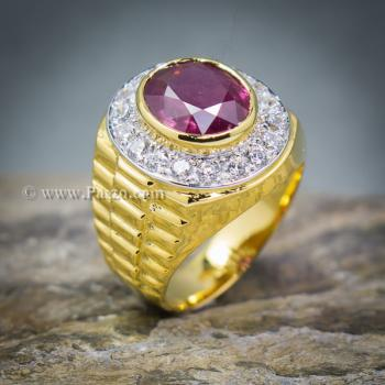 แหวนโรเล็กซ์ แหวนพลอยผู้ชาย แหวนทับทิม #3
