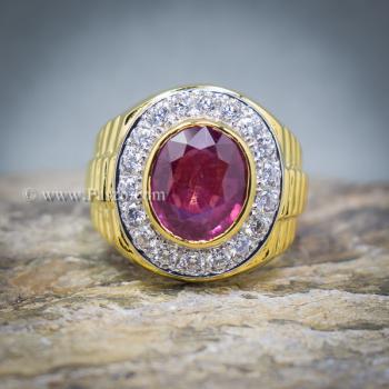 แหวนโรเล็กซ์ แหวนพลอยผู้ชาย แหวนทับทิม #5