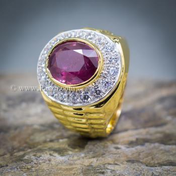 แหวนโรเล็กซ์ แหวนพลอยผู้ชาย แหวนทับทิม #4