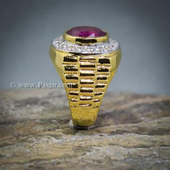 แหวนโรเล็กซ์ แหวนพลอยผู้ชาย แหวนทับทิม #7