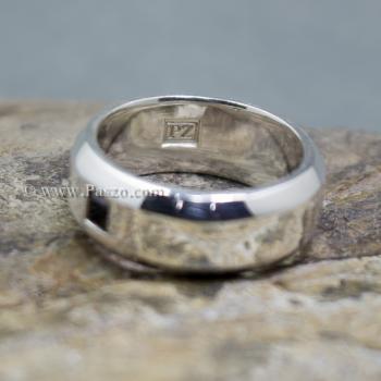 แหวนนิล แหวนตะไบขอบเฉียงฝังนิล แหวนเงินแท้ #7