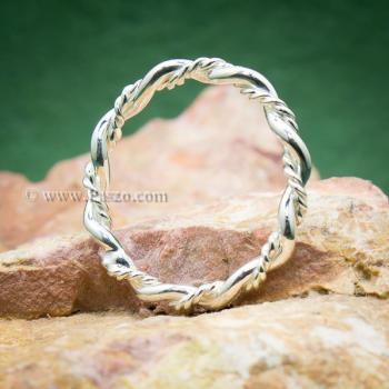 แหวนเถาวัลย์ แหวนเงินแท้ แหวนพันเกลียว #2