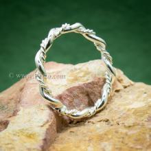 แหวนเถาวัลย์ แหวนเงินแท้ แหวนพันเกลียว