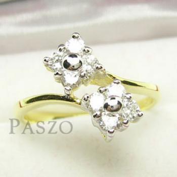 แหวนดอกไม้ แหวนเพชร แหวนทองชุบ #3