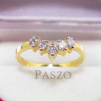 แหวนเพชร แหวนมงกุฎ แหวนทองชุบ #3