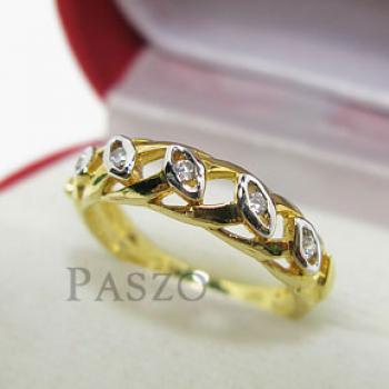 แหวนเพชร แหวนดวงตา แหวนทองชุบ #2