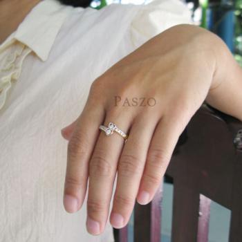 แหวนเพชร แหวนรูปหัวใจ หัวใจคู่ #4