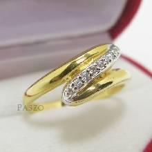 แหวนเพชร แหวนซิกแซก แหวนทองชุบ