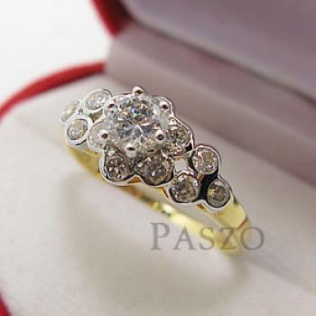 แหวนดอกไม้ แหวนเพชร แหวนหัวชู #2