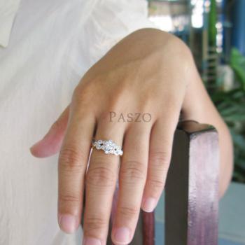 แหวนดอกไม้ แหวนเพชร แหวนหัวชู #4
