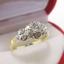แหวนดอกไม้ แหวนเพชร แหวนหัวชู แหวนทองชุบ