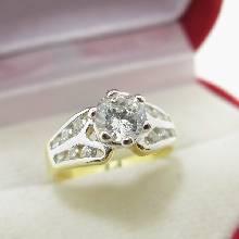 แหวนเพชร แหวนเพชรหัวชู แหวนทองชุบ