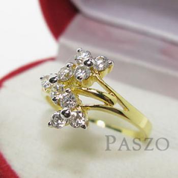 แหวนดอกลำดวน แหวนเพชร แหวนทองชุบ #2